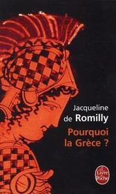 Pourquoi la Grèce ? - Intérieur - Format classique