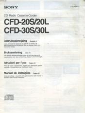 Mode D'Emploi - Cd Radio Cassette-Corder - Cfd-20s/20l / Cfd-30s/30l - Couverture - Format classique