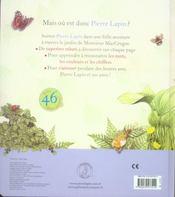 Je découvre les mots, les couleurs et les chiffres avec Pierre Lapin - 4ème de couverture - Format classique
