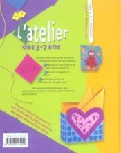L' atelier des 3-7 ans - pedagogique, facile, amusant - Couverture - Format classique