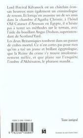 Dernier Crime D'Agatha Christie - 4ème de couverture - Format classique