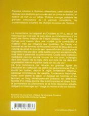Initiation à moines et monastères en occident au Moyen Age - 4ème de couverture - Format classique