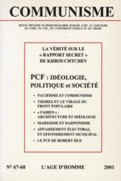 Revue Communisme N.67-68 ; La Vérité Sur Le