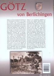 Gotz von berlichingen tome 1 - 4ème de couverture - Format classique
