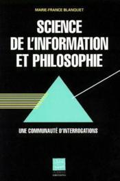 Science de l'information et philosophie - Couverture - Format classique
