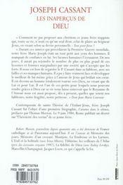 Joseph Cassant - 4ème de couverture - Format classique