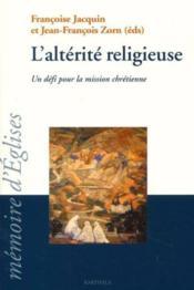 Alterite religieuse - Couverture - Format classique