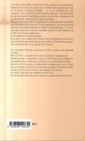 Recherches sur le bétail de la haute Auvergne et particulièrement sur la race bovine de Salers - 4ème de couverture - Format classique