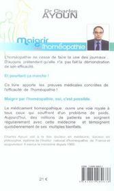 Maigrir Avec L'Homeopathie - 4ème de couverture - Format classique