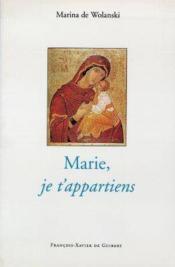 Marie, je t'appartiens - Couverture - Format classique