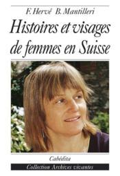 Histoires Et Visages De Femmes - Couverture - Format classique