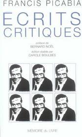 Ecrits critiques et autres textes - Intérieur - Format classique