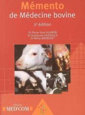 Mémento de médecine bovine (2e édition) - Couverture - Format classique