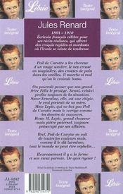 Poil De Carotte - 4ème de couverture - Format classique