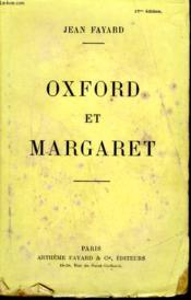 Oxford Et Margaret. - Couverture - Format classique