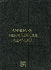 Annuaire Therapeutique Tallandier - Couverture - Format classique