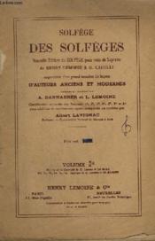 Solfege Des Solfeges - Volume 2-A. - Couverture - Format classique