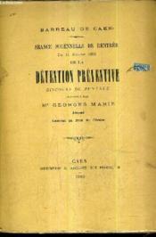 Seance Solennelle De Rentree Du 11 Janvier 1889 De La Detention Preventive Discours De Rentree (Plaquette). - Couverture - Format classique