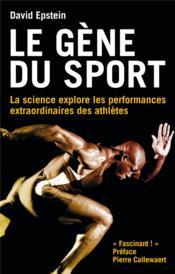 Le gène du sport - Couverture - Format classique