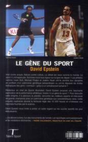 Le gène du sport - 4ème de couverture - Format classique