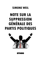 Note sur la suppression générale des partis politiques - Couverture - Format classique