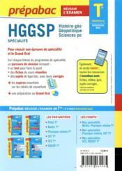 Prépabac réussir l'examen ; HGGSP, histoire-géo, géopolitique, sciences po ; terminale générale, spécialité (édition 2020/2021) - 4ème de couverture - Format classique