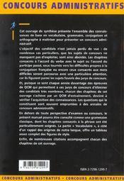 Les Connaissances De Base En Francais Categories B Et C Concours Administratifs Tous Ministeres - 4ème de couverture - Format classique