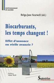 Biocarburants, les temps changent ! effet d'annonce ou réelle avancée ? - Intérieur - Format classique