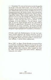 Ferme (Livres Et Cubes) - 4ème de couverture - Format classique