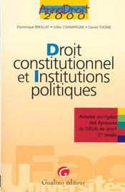 Dt constitut. et instit.polit. - Intérieur - Format classique
