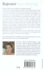 Rajeunir Sans Chirurgie - 4ème de couverture - Format classique