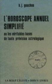 Horoscope annuel simplifie - Couverture - Format classique
