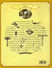 Métiers oubliés - 4ème de couverture - Format classique