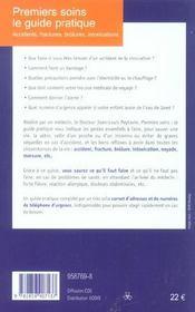 Premiers Soins: Le Guide Pratique 2004 - 4ème de couverture - Format classique