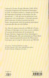 Notes de voyages prosper merimee - 4ème de couverture - Format classique