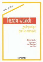 Prendre La Parole:Guide Pratique/2 Edition - Intérieur - Format classique