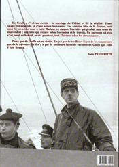 De Gaulle - 4ème de couverture - Format classique
