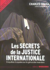 Les secrets de la justice internationale - Intérieur - Format classique