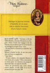 Isabelle de Castille ; journal d'une princesse espagnole - 4ème de couverture - Format classique