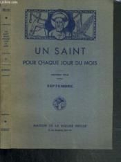 Un Saint Pour Chaque Jour Du Mois - Septembre - Couverture - Format classique