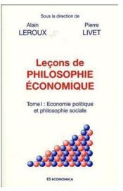 Lecons De Philosophie Economique T.1 - Couverture - Format classique