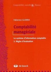 Comptabilité manageriale 3 - Couverture - Format classique