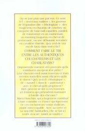 Recettes des chuchoteurs - 4ème de couverture - Format classique