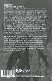 Une Valse De Slave Nu - 4ème de couverture - Format classique