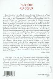 Algerie au coeur itineraire d un pretre - 4ème de couverture - Format classique