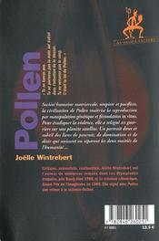 Pollen - 4ème de couverture - Format classique