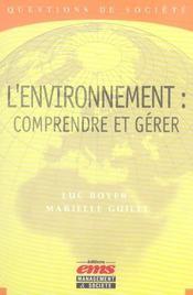 L'environnement : comprendre et gérer - Intérieur - Format classique