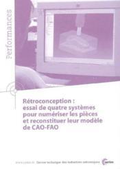 Retroconception ; essai de quatre systemes pour numeriser les pieces ; performances resultats des action - Couverture - Format classique