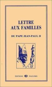 Lettre aux familles - Couverture - Format classique