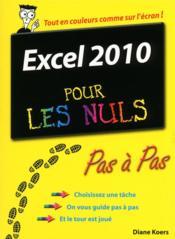 Excel 2010 pas à pas pour les nuls - Couverture - Format classique